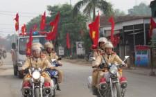 Nghĩa Đàn ra quân đảm bảo trật tự an toàn giao thông năm 2016