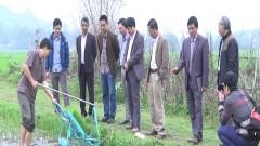 Hai nông dân trẻ Huyện Nghĩa Đàn sáng chế thành công máy cấy lúa