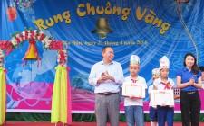 Hai thí sinh đạt giải nhất giao lưu Rung chuông vàng bậc Tiểu học
