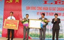 Nghĩa Sơn đón bằng công nhận xã đạt chuẩn NTM và kỷ niệm 20 năm thành lập xã