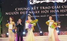 Thí sinh Phạm Thị Quyên đạt giải nhất cuộc thi người đẹp ngày hội hoa hướng dương