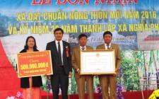 Xã Nghĩa Phú, huyện Nghĩa Đàn đón bằng công nhận xã  đạt chuẩn Nông thôn mới
