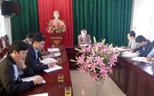 Đồng chí Bí thư Huyện ủy làm việc với xã Nghĩa Tân về xây dựng nông thôn mới