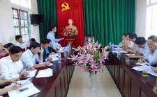 Chủ tịch UBND huyện làm việc với xã Nghĩa Tân