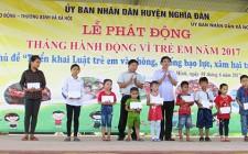 Phát động tháng hành động vì trẻ em năm 2017