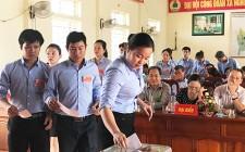 Đại hội điểm công đoàn cơ sở tại xã Nghĩa Bình
