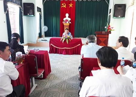 Đồng chí bí thư Tỉnh ủy Nguyễn Đắc Vinh làm việc với xã Nghĩa Lộc