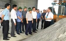 Đồng Chí Huỳnh Thanh Điền kiểm tra tiến độ xây dựng dự án nhà máy xử lý rác thải Nghĩa Đàn