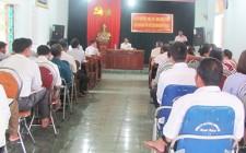 Chủ tịch UBND huyện Nghĩa Đàn làm việc với xã Nghĩa Liên về tiến độ xây dựng nông thôn mới