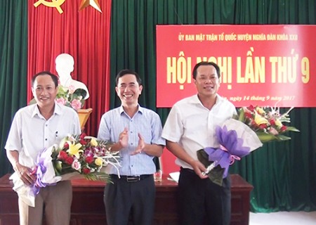 Đồng chí Võ Quang Hòa được bầu bổ sung giữ chức chủ tịch UB MTTQ huyện