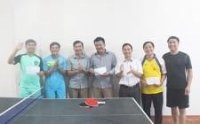 Giải bóng bàn nam chào mừng ngày truyền thống các ban xây dựng Đảng và văn phòng cấp ủy