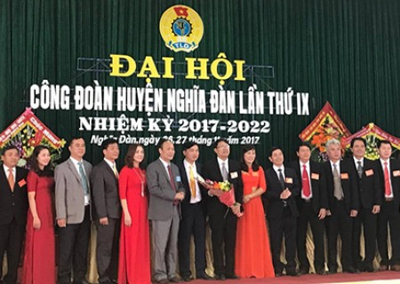 Đại hội Liên đoàn Lao động huyện Nghĩa Đàn lần thứ IX nhiệm kỳ 2017-2022