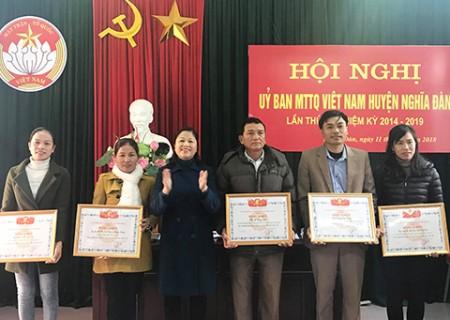 UBMTTQ huyện Nghĩa Đàn tổ chức hội nghị lần thứ 10, nhiệm kỳ 2014-2019