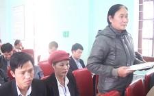 Đồng chí Lê Hồng Sơn làm việc với xã Nghĩa Thắng