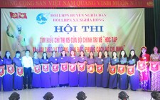 Hội LHPN Nghĩa Hồng tổ chức hội thi tìm hiểu chỉ thị 05 của BCT