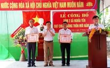 Xóm đầu tiên của xã Nghĩa Yên đón chuẩn nông thôn mới