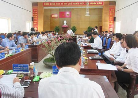 Đồng chí chủ tịch UBND tỉnh Nguyễn Xuân Đường làm việc với Nghĩa Đàn