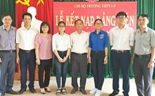 Trường THPT 1/5 tổ chức Lễ kết nạp Đảng viên mới