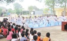 Nghĩa Liên Khai giảng lớp học võ Karatedo cho các em học sinh dịp hè 2018