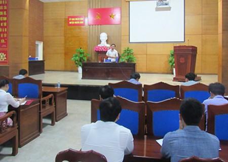 Sở Nội vụ kiểm tra công tác CCHC tại UBND huyện Nghĩa Đàn