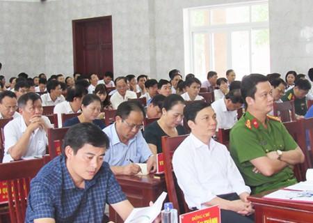 Nghĩa Đàn triển khai thực hiện các nghị quyết Hội nghị Trung ương 7 ( khóa XII )