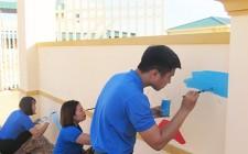 Đoàn thanh niên huyện Nghĩa Đàn xây dựng con đường bích họa tại trường Mầm non Nghĩa Lộc