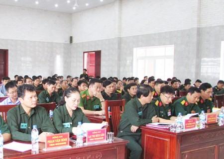 Nghĩa Đàn khai mạc diễn tập chiến đấu khu vực phòng thủ huyện năm 2018