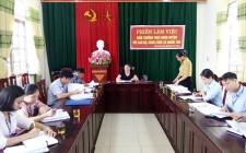 Thường trực HĐND huyện làm việc với xã Nghĩa Tân