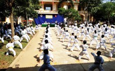 Nghĩa Lạc khai giảng lớp võ thuật Karatedo