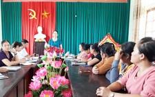Hội LHPN huyện Nghĩa Đàn kiểm tra công tác hội tại xã Nghĩa Khánh