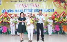 Thí sinh Nguyễn Thị Quỳnh Na giành giải nhất hội thi điều dưỡng, hộ sinh, kỹ thuật viên giỏi năm 2018