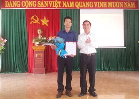 Công bố quyết định điều động, chỉ định Phó bí thư Đảng ủy xã Nghĩa Liên