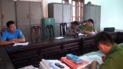 Công an Huyện Nghĩa Đàn bắt giữ các đối tượng sử dụng vật liệu nổ trái phép