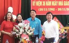 Đồng chí Võ Tiến Sỹ chúc mừng ngày Nhà giáo Việt Nam