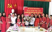 Đồng chí Phan Tiến Hải chúc mừng ngày nhà giáo Việt Nam