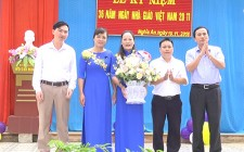Đồng chí Ngô Văn Thành chúc mừng ngày nhà giáo Việt Nam