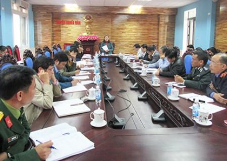 Thường trực HĐND huyện Nghĩa Đàn thẩm tra các báo báo, tờ trình dự thảo Nghị quyết kỳ họp thứ 7