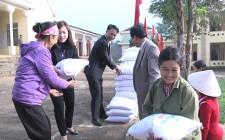 Trao 3 tấn gạo cho hội viên nông dân khó khăn