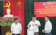 BHXH huyện Nghĩa Đàn quyên góp tặng sổ BHXH cho người dân có hoàn cảnh khó khăn