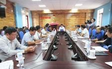 UBND huyện làm việc với các xã, thị trấn về công tác xây dựng xã chuẩn Quốc gia về y tế