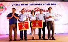 Nghĩa Hồng và Nghĩa Mai cùng giành giải nhất Liên hoan tiếng hát Làng Sen cụm số 2