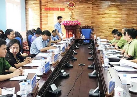 Cục quản lý thị trường tỉnh Nghê An làm việc với UBND huyện Nghĩa Đàn