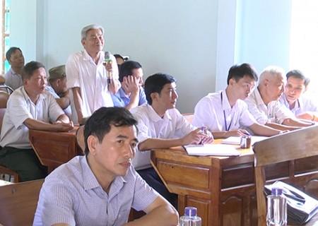 Đại biểu HĐND tỉnh tiếp xúc cử tri trước kỳ họp thứ 9, HĐND tỉnh khóa XVII tại Nghĩa Đàn