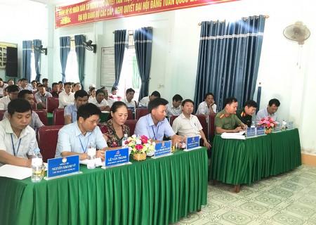 UBND huyện Nghĩa Đàn làm việc với xã Nghĩa Lộc