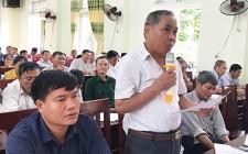 Thường trực Huyện ủy làm việc với 3 xã Nghĩa Tân, Nghĩa Liên, Nghĩa Thắng triển khai việc sáp nhập xã