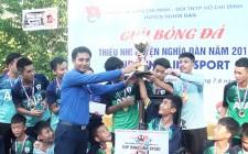 Đội thị trấn Nghĩa Đàn vô địch giải bóng đá thiếu nhi hè năm 2019