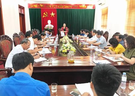 Thường trực Huyện ủy Nghĩa Đàn làm việc với UBMTTQ và các tổ chức đoàn thể huyện.