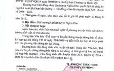 Thông báo kỳ họp thứ X, HĐND huyện Nghĩa Đàn