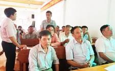 Ngân hàng CSXH huyện tập huấn nghiệp vụ công tác tín dụng tại Nghĩa Liên và Nghĩa Tân