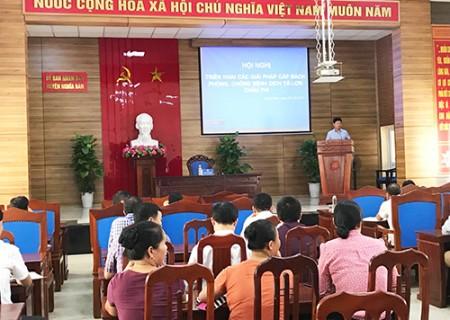 Hội nghị triển khai các giải pháp cấp bách phòng, chống bệnh dịch tả lợn Châu Phi